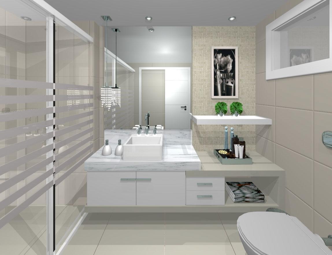 Decorando banheiro pequeno  Decor8 Móveis Planejados -> Banheiro Pequeno Moveis Planejados