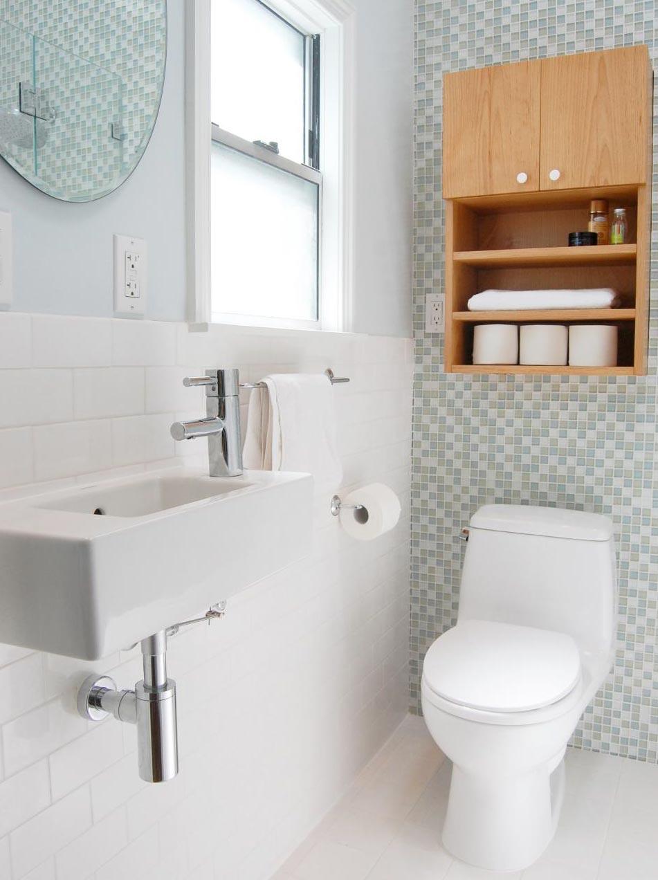Banheiro planejado - Pastilhas de vidro