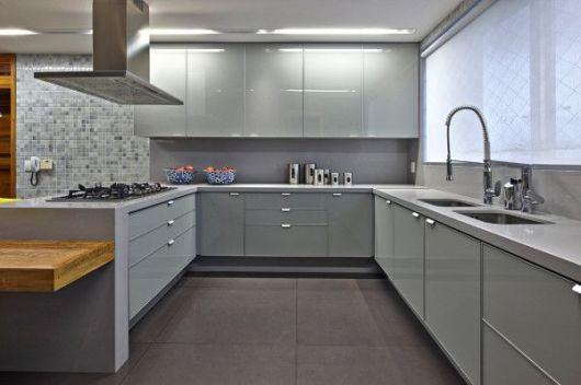 decoracao de cozinha cinza