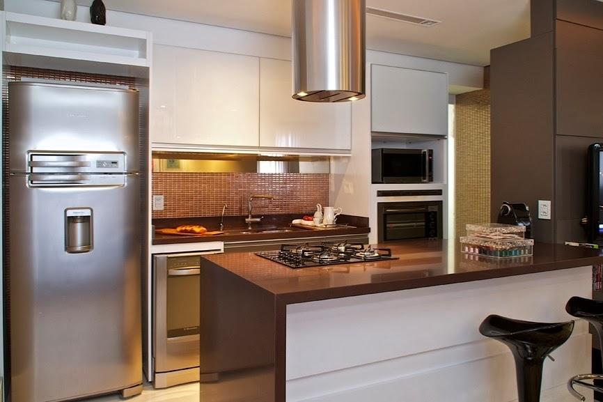 decoracao de cozinha com ilha