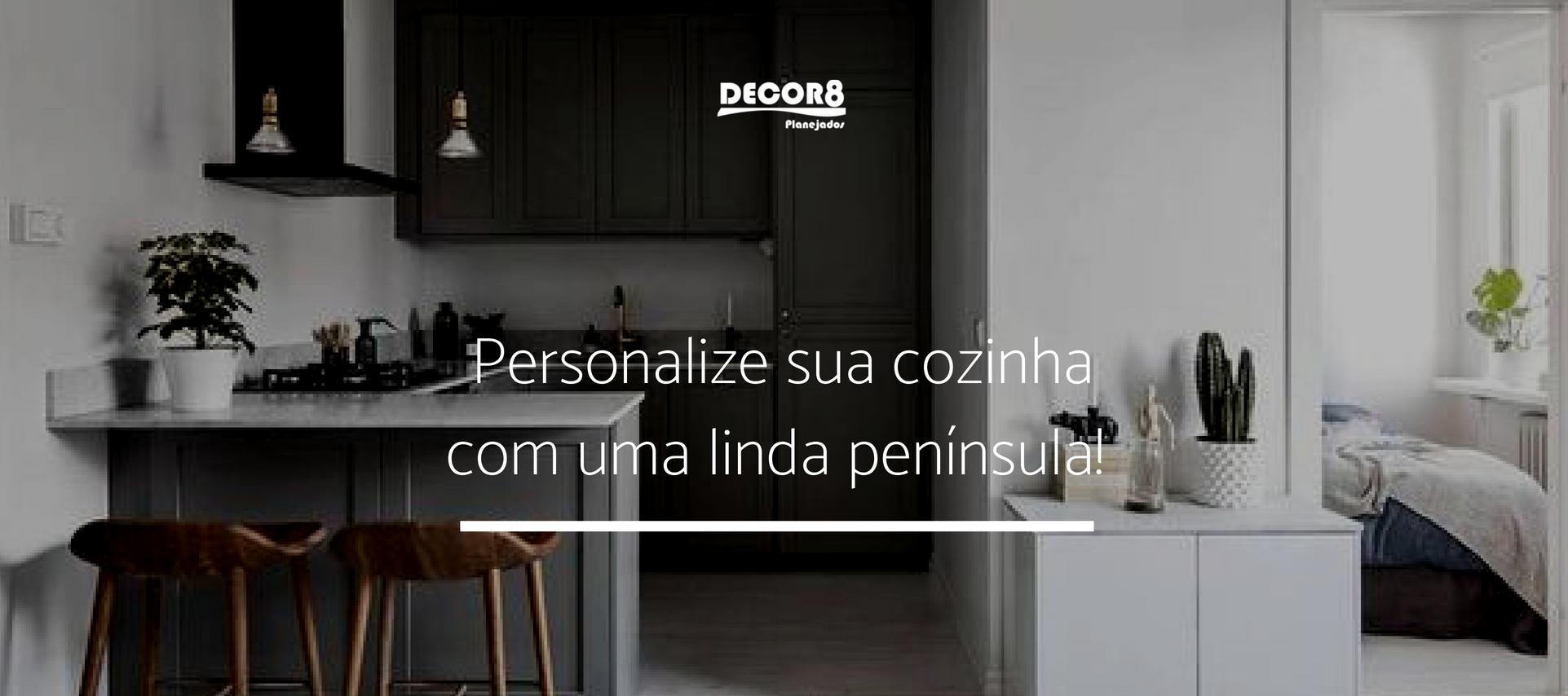 Personalize sua cozinha com uma linda península!